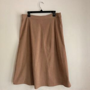 Christopher & Banks Skirts - Christopher & Banks Camel Faux Suede Skirt